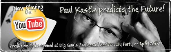 Paul Kastle Predicts the Future! WATCH Paul on YouTube...